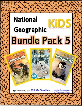 National Geographic Kids Bundle Pack 5 {Dinosaurs, Polar Bears, Penguins}