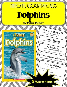 National Geographic Kids- Dolphins.  9 Worksheets! Scholastic.