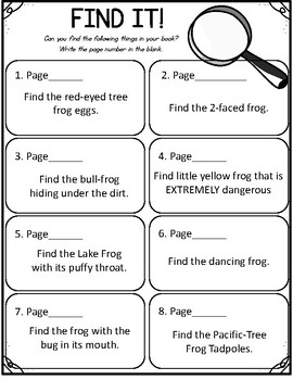 National Geographic Kids- Frogs.  9 Worksheets! Scholastic.