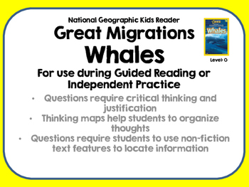 National Geographic Kids Great Migrations Whales Reader Level O