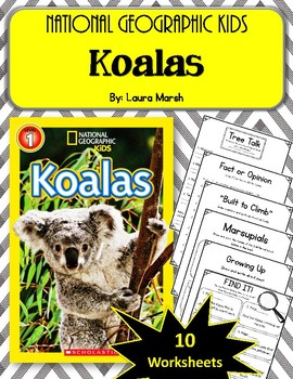 National Geographic Kids- Koalas.  9 Worksheets! Scholastic.