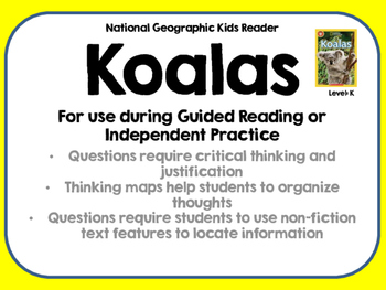 National Geographic Kids Koalas Reader GRL K