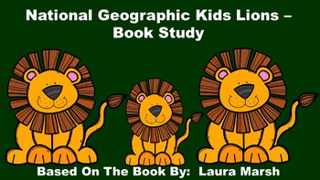 National Geographic Kids Lions - Book Study