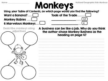 National Geographic Kids Monkeys Reader GRL K
