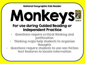 National Geographic Kids Monkeys Reader GRL K
