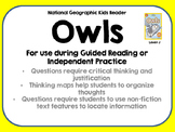 National Geographic Kids Owls Reader GRL J