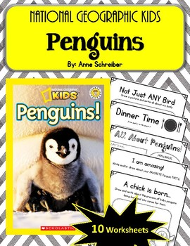 National Geographic Kids- Penguins.  10 Worksheets! Scholastic.