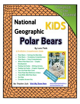 National Geographic Kids Polar Bears {Nonfiction Comprehension Guide}