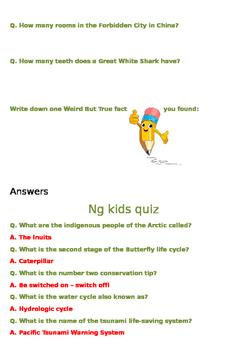 National Geographic Kids Quiz