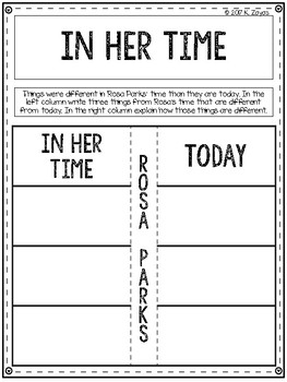National Geographic Kids: Rosa Parks  Book Comprehension Packet