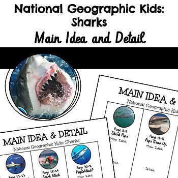 National Geographic Kids Sharks Main Idea and Detail