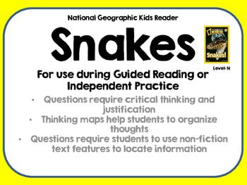 National Geographic Kids Snakes Reader GRL N