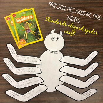National Geographic Kids: Spiders- Reading Informational Craft