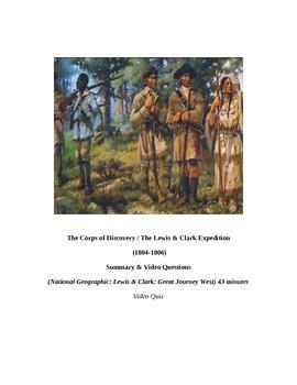 "Louisiana Purchase: ""LEWIS & CLARK: Great Journey West"" VIDEO LINK, QUIZ, & KEY"