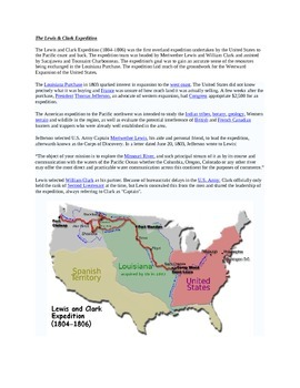 "Louisiana Purchase: ""LEWIS & CLARK: Great Journey West"" VIDEO LINK, QUIZ, & KEY"