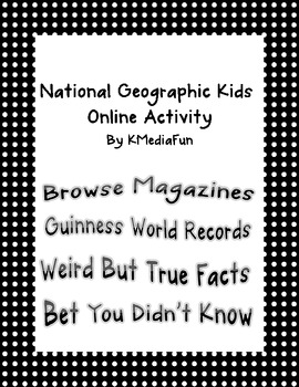 National Geographic Online Activity by KMediaFun