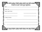 National Geographic Organizer {Freebie}