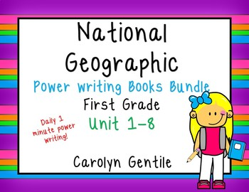 National  Geographic Power Writing Bundle Units 1-8 First Grade