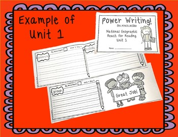 National Geographic Power Writing Unit 4 First Grade Reach for Reading