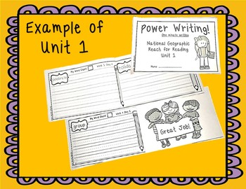 National Geographic Power Writing Unit 6 First Grade Reach for Reading