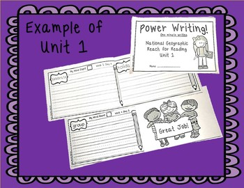 National Geographic Power Writing Unit 8 First Grade Reach for Reading