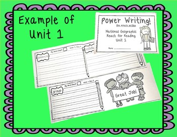 National Geographic Power writing Unit 3 First Grade Reach for Reading