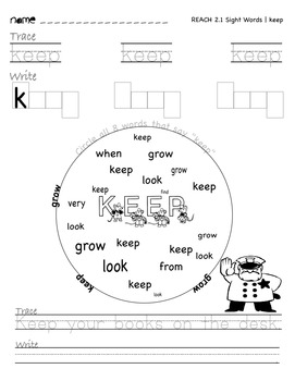 National Geographic REACH Sight Words | Unit 1 & 2