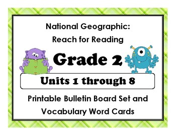 National Geographic Reach-Reading:Gr 2 Units 1-8 Bulletin Boards & Vocab Cards