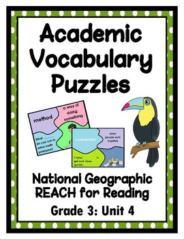 National Geographic Reach for Reading Academic Vocab Puzzles: Grade 3 - Unit 4