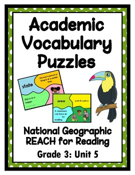 National Geographic Reach for Reading Academic Vocab Puzzles: Grade 3 - Unit 5