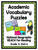 National Geographic Reach for Reading Academic Vocab Puzzl