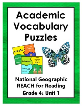 National Geographic Reach for Reading Academic Vocab Puzzles: Grade 4 - Unit 1