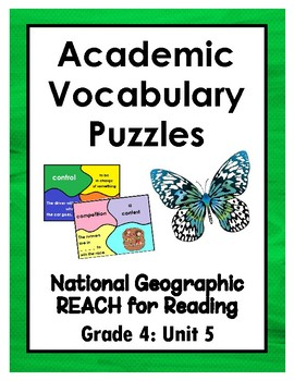 National Geographic Reach for Reading Academic Vocab Puzzles: Grade 4 - Unit 5