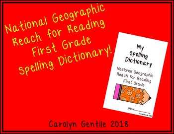 National Geographic Reach for Reading Dictionary First Grade