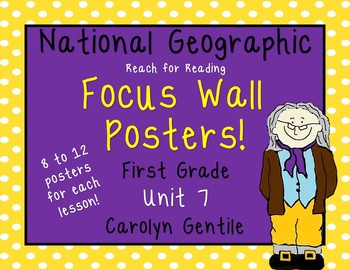 National Geographic Reach for Reading Focus Wall Posters 1st Grade Unit 7