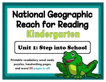 National Geographic Reach for Reading: Kindergarten - Unit 1 Activity Bundle