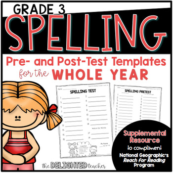 National Geographic {Reach for Reading} Spelling Templates for 3rd Grade