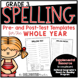Spelling Templates {for National Geographic Reach for Reading GRADE 3}