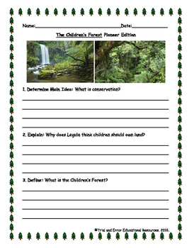 National Geographic Reach for Reading. Unit 1 Week 1 Explorer Pioneer Questions