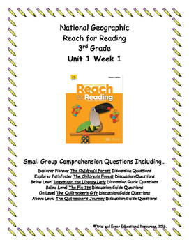 National Geographic Reach for Reading. Unit 1 Week 1 Small Group Bundle Package.