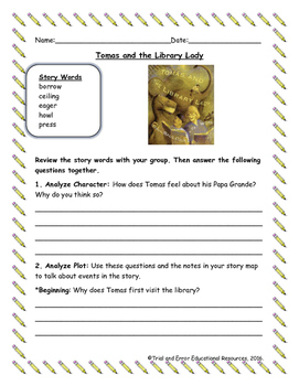 National Geographic Reach for Reading. Unit 1 Week 1 Tomas