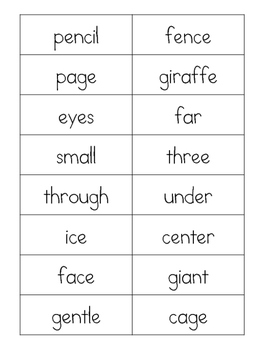 National Geographic Reach for Reading Unit 5 Week 1 Spelling Words