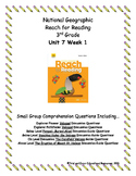 National Geographic Reach for Reading. Unit 7 Week 1 Small Group Bundle Package.