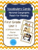 National Geographic Reach for Reading Vocabulary Cards First Grade Unit 1