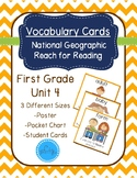 National Geographic Reach for Reading Vocabulary Cards First Grade Unit 4
