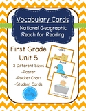 National Geographic Reach for Reading Vocabulary Cards First Grade Unit 5