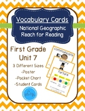 National Geographic Reach for Reading Vocabulary Cards First Grade Unit 7