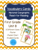 National Geographic Reach for Reading Vocabulary Cards First Grade Unit 8