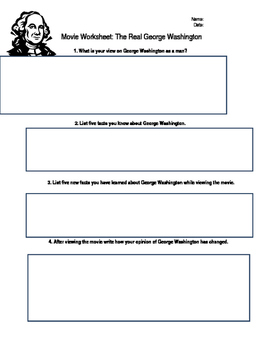 National Geographic - The Real George Washington  Video Worksheet