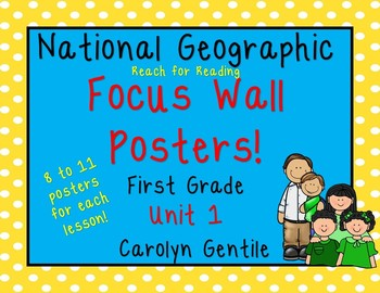 National Geographic Unit 1 Focus Wall Posters First Grade